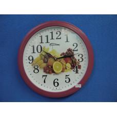 Часы настенные электр.-механ. кварц Космос (кругл,Фрукты) К- 126