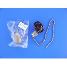 Выключатель цепочка для бра Gold с деревян.наконечником/32-0106