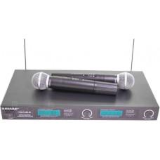 Микрофон  радио  Shure LX88-III (усилитель + 2 микрофона) в кейсе