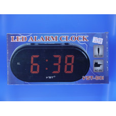 Часы электрон. настольные Элегия VST-801-2+б/п(салатовые цифры)