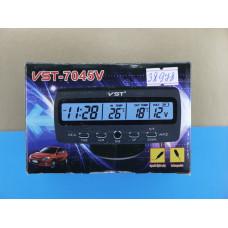 Часы авто 3 в1 VST-7045V (+пит.от прикурив.)