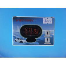 Часы авто 3 в1 VST-7009V (+пит.от прикурив.)