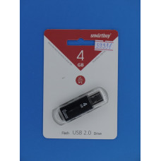 Носитель информ.  4GB Smart Buy V-Cut черный