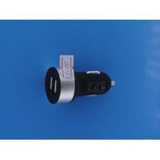 Адаптер 12 => 2*USB (в прик.без шн.) 5V/ (2,1А+1А) 5121 глян кругВ1345