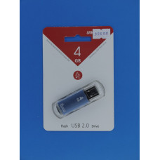 Носитель информ.  4GB Smart Buy V-Cut синий