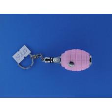 Фонарик брелок ручной  (2 диод+ лазер) (3*AG10) кегля 021