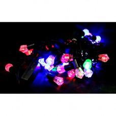 """Гирлянда эл.  40 LED """"Шишки"""" многоцв. мигающ., 4м черный каб. LED-8024"""