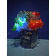 """Гирлянда эл.  40 ламп LED """"Елочки цветные"""" многоцв. мигающ"""