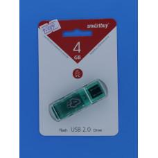 Носитель информ.  4GB Smart Buy Glossy зеленая