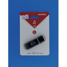 Носитель информ.  4GB Smart Buy Glossy черная