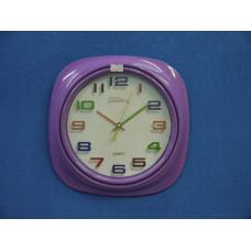 Часы настенные электр.-механ. кварц Космос (кругл.,цветн.цифры) К-7643