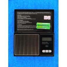Весы электронные мини 200g / 0,01г с крышкой черн 004 016-2