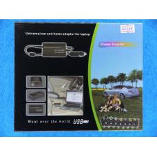 Блок питания для ноутбуков 12В-24В  150W (сеть\авто) + USB