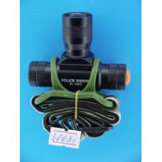 Фонарь головной  1 диод SMD 5050 (ярк+линза) zoom  (1R6) BL-6660