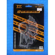 Набор ключей шестигранных 10шт (1,5-10мм) на кольце /17548 в пакете