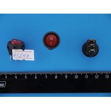 Перек. сет. круглый с подсв. мини 12V (Красный) 3pin SMRS-102d-3с