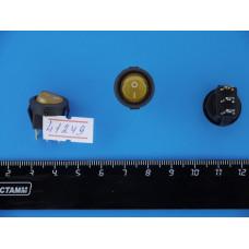 Перек. сет. круглый с подсв. мини 12V (Желтый) 3pin SMRS-102d-3с