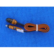 Кабель USB 2,0 - 2 в1 (шт. iPhone 5  + шт. micro USB) 1м