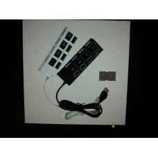 Разветвитель USB хаб (4 вх в 1) с пров HI-SPEED+перек.500GBJC-401/А943