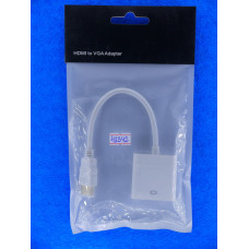 Шнур HDMI шт. -  VGA гн (15см) конвертер