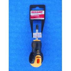 Отвертка (+) PH2 х 40 мм, двухкомпонентная рукоятка Rexant/12-4730