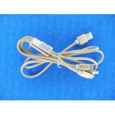 Кабель USB 2,0 - 3 в1 (шт. iPhone 5  + шт. micro USB+ Type C) /В377