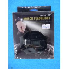 Фонарь и часы на руку 2 в 1 Watch Flashlight 1188-LHW STB083