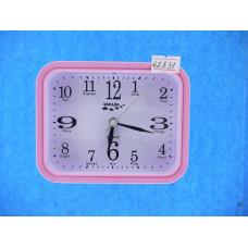 Часы Будильник Quartz 8054 Р2-37 роз.