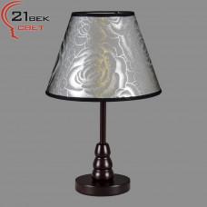 Светильник бытовой настоль. деревян с абажур.(220V 40W E27) 2005МТ