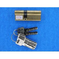 Личинка для замка 80мм со смещенным центром (6 ключей)