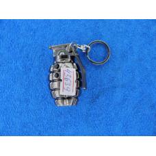 Фонарик брелок ручной  (2 диод+ лазер) (3*AG10) граната 810
