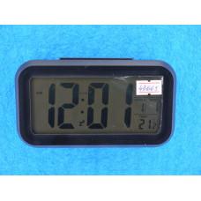 Часы Будильник ЖК-дисплей, дата, темпер., подсветка (3R03) черн