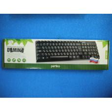 Клавиатура Perfeo DOMINO PF-8801 стандартная ,USB,черная