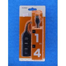 Разветвитель USB хаб (4 вх в 1) с пров HI-SPEED JC-21511 на планкА937