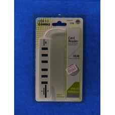 Разветвитель USB хаб (8 входа в 1) с проводом 6 port USB+ SD+TF