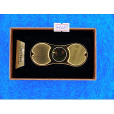 Зажигалка Lighter Спиннер Gold, без пламени +USB, LED-подсветка