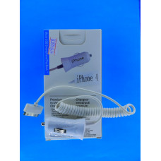 Адаптер 12 =>USB + шнур  вит. iPhone 4) REMAX