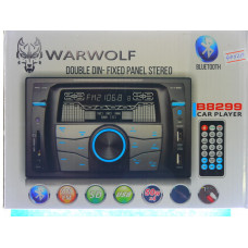 Авто магнитола WARWOLF B-8299 двухдин.Bluetooth 2 usb SD. FM