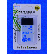 Карт-ридер унив LD404 А11 5В1 SD.Mini SD.RS-MMC.MS/В878