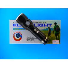 Фонарь аккум. ручной 1708-50000W 1диод + шнур USB