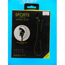 Гарнитура AMW-810 Sports беспров. Bluetooth, вакуумн., регул.громк.