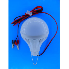 Автопереноска светод. лампа 12W с зажимами