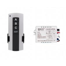 Дистанционный цифровой выключатель HL 1пульт ABC+1блок/3 нагрузки