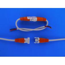Соединительный разъем 2pin с проводом 15 см Оранж./сер.(штекер+гнездо)