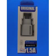 Адаптер 220 => 2*USB + шнур usb-micro USB (5V 1,5А) G-13 1м Origi/В860