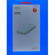 """Аккумулятор внешний """"POWER BANK""""  WOPOW Р100"""