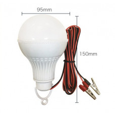 Автопереноска светод. лампа 15W с зажимами