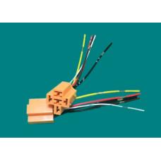 Клеммная колодка для автоРЕЛЕ с проводами 5 конт. (оранжевая)