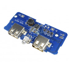 Модуль для сбора POWERBANK JX-887Y с защитой 3,7V 2A (2USB+1micro)