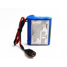 Аккумуляторы 12V 3000mAh (блок батарей 3*18650 с контактами)